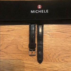 Black Michele Watch Band